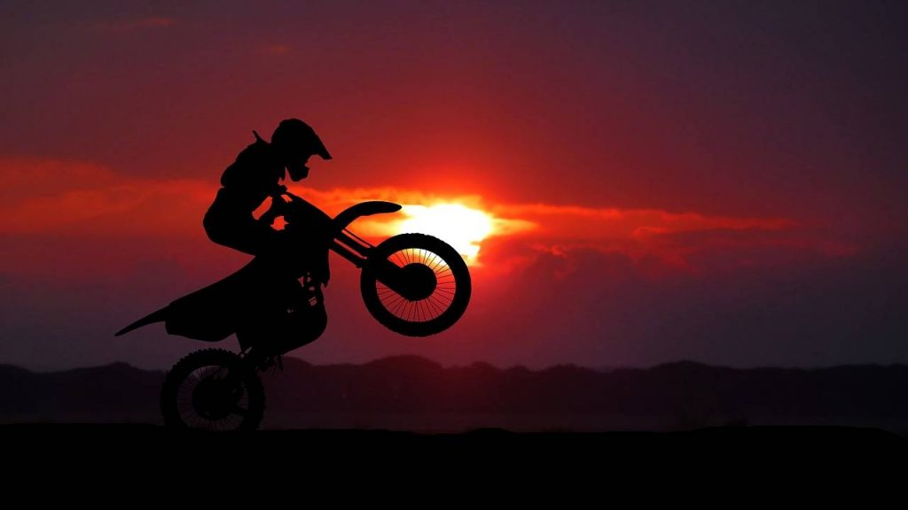 Riding-dirt-bike
